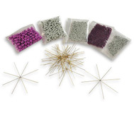 Perlensterne-Set Lila-Pink-Silber