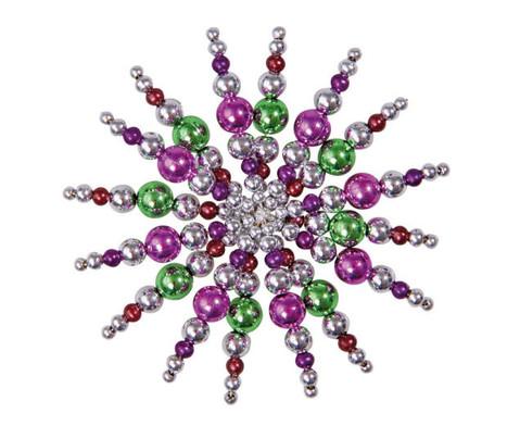 Perlensterne Set Lila-Pink-Silber-3