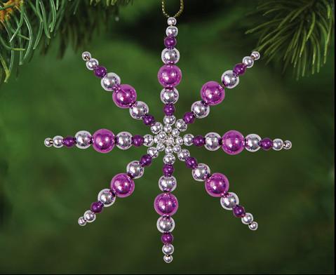 Perlensterne Set Lila-Pink-Silber-2