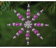 Perlensterne Set Lila-Pink-Silber