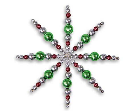 Draht-Sterne-Set Gruen-Braun-Silber-1