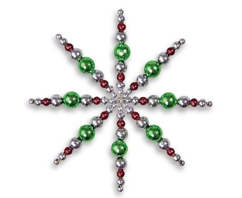 Perlensterne Set Gruen-Braun-Silber-3