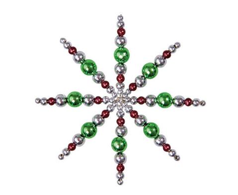 Perlensterne Set Gruen-Braun-Silber-4