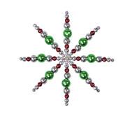 Perlensterne Set Grün-Braun-Silber