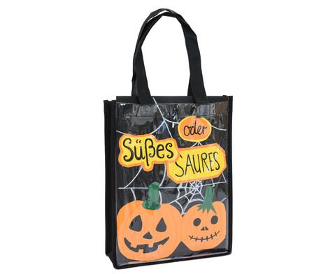 Kunststofftasche mit Einschub schwarz-2