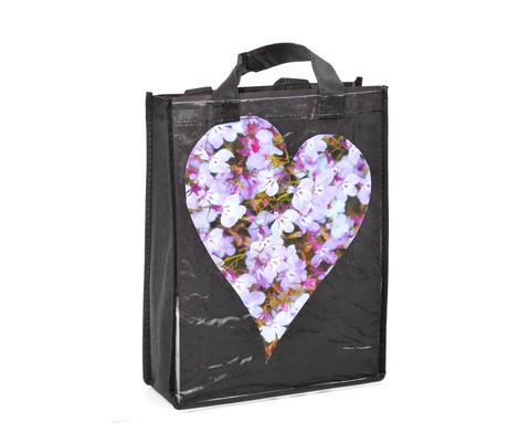 Kunststofftasche mit Einschub schwarz-3