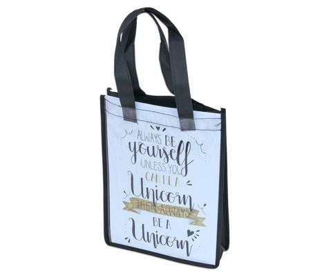 Kunststofftasche mit Einschub schwarz-5