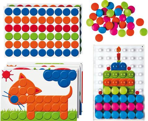 Mosaik-Steckspiel fuer 4 Kinder