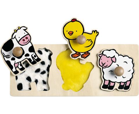 Fuehl-Puzzle Tiere