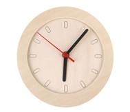 Kleine Uhr mit Holzrahmen, blanko