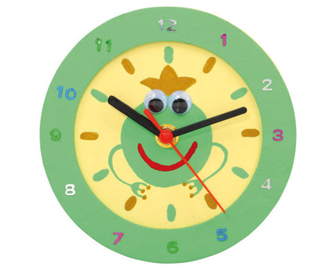 Uhr mit Holzrahmen blanko-2