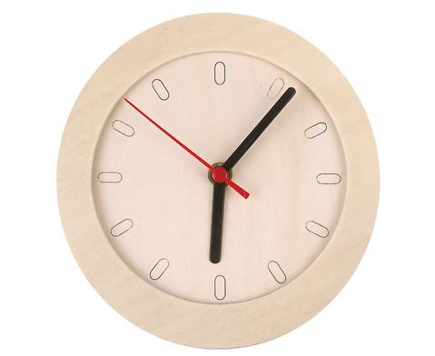 Uhr mit Holzrahmen blanko-1