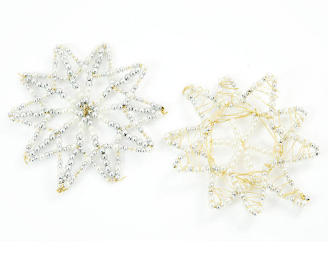 Draht-Sterne-Set in Silbertoenen-4
