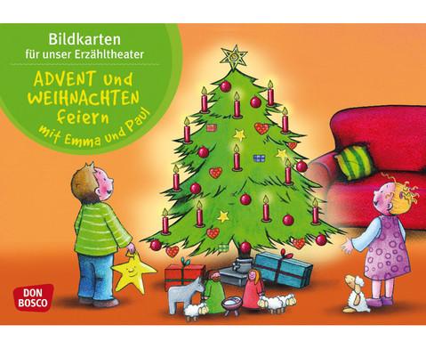Bildkarten Advent und Weihnachten feiern mit Emma und Paul