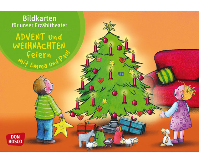 bildkarten advent und weihnachten feiern mit emma und paul. Black Bedroom Furniture Sets. Home Design Ideas