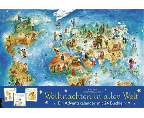Weihnachten in aller Welt Adventskalender mit 24 Buechlein-1