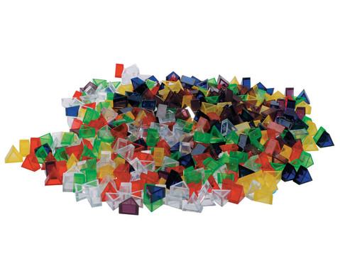 Transparente ECKO-Legesteine kleine Dreiecke