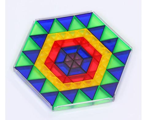 Transparente ECKO-Legesteine kleine Dreiecke-3