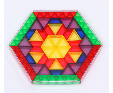 Transparente ECKO-Legesteine kleine Dreiecke-4