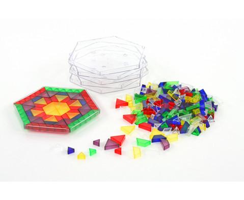 Transparente ECKO-Legesteine grosse Dreiecke-4