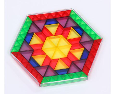 Transparente ECKO-Legesteine grosse Dreiecke-5