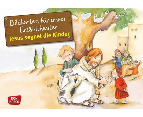 Bildkarten Jesus segnet die Kinder-1