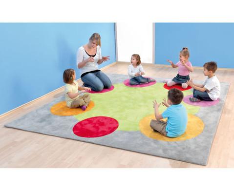 Spielteppich Quadratisch in  grau 25 x 25 m-2