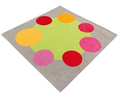 Spielteppich Quadratisch in  grau 25 x 25 m-1