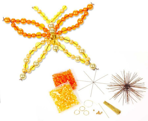 Schmetterling-Draht-Set orange-gelb-1