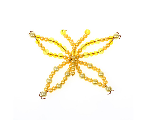 Schmetterling-Draht-Set orange-gelb-6