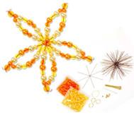 Blumen-Draht-Set, orange/gelb