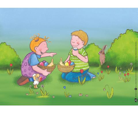 Bildkarten Ostern feiern mit Emma und Paul-5