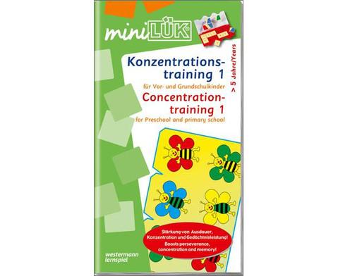 miniLUEK-Heft Konzentrationstraining 1-1