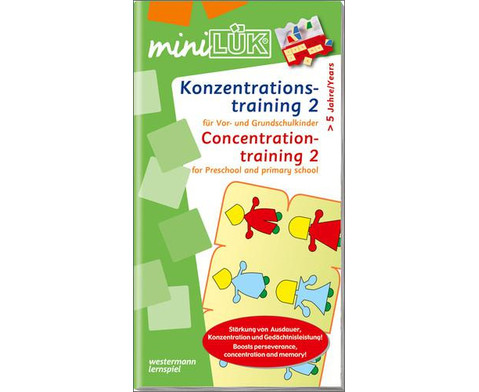 miniLUEK-Heft Konzentrationstraining 2-1
