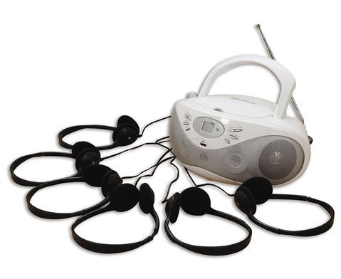 CD-Player inkl 6 Kopfhoerern