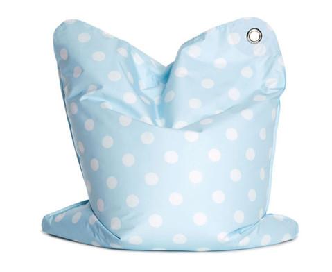 Sitzsack blau gepunktet-2