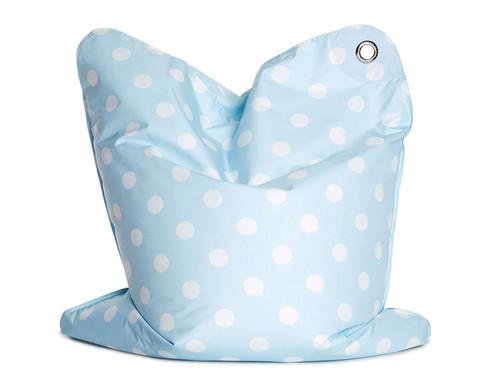 Sitzsack blau gepunktet-1