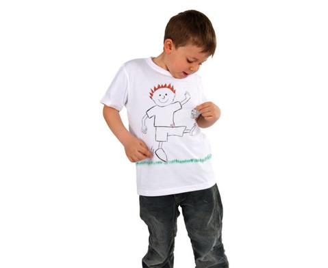12 weisse Kinder-T-Shirts zum Bemalen-5