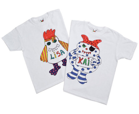 Weisse Kinder-T-Shirts 12 Stueck-5