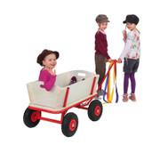 Holz-Bollerwagen mit Feststellbremse