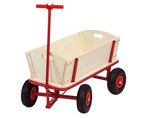 Holz-Bollerwagen mit Feststellbremse-3