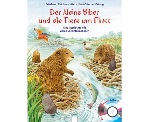 BuchCD Der kleine Biber und die Tiere am Fluss-1