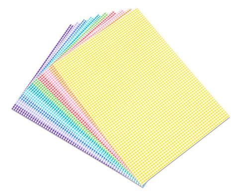 Karo-Fotokarton 300 g-m 10 Blatt DIN A4 in 10 Farben-1