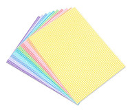 Karo-Fotokarton 300 g/m², 10 Blatt DIN A4 in 10 Farben