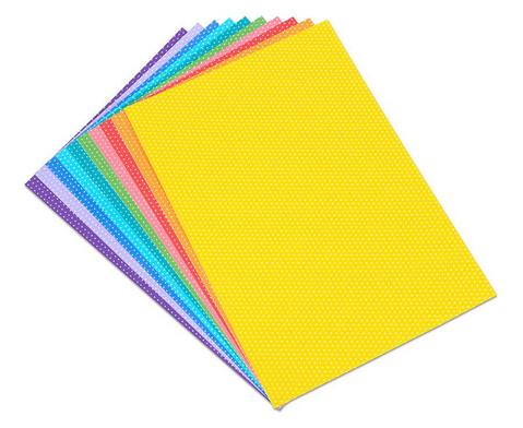Puenktchen-Fotokarton 300 g-m 10 Blatt DIN A4 in 10 Farben-1
