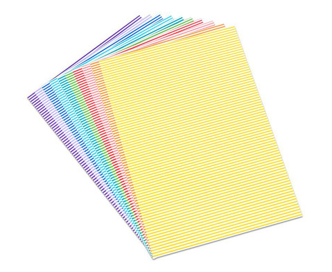 Streifen-Fotokarton 300 g-m 10 Blatt DINA4 in 8 Farben-1