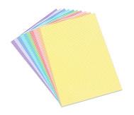 Streifen-Fotokarton 300 g/m², 10 Blatt DINA4 in 8 Farben