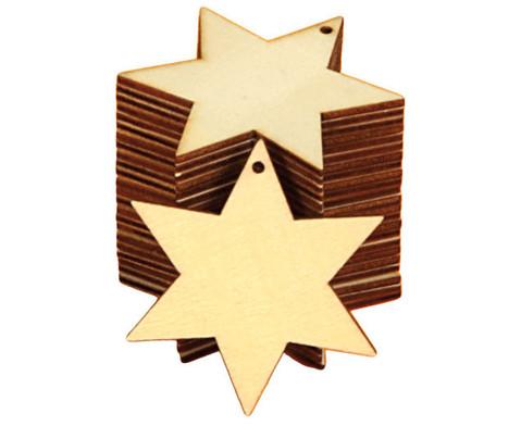 Weihnachtsanhaenger Stern 24 Stueck blanko-3
