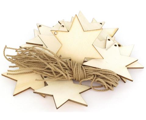Weihnachtsanhaenger Stern 24 Stueck blanko-4