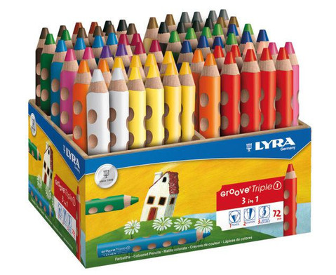 Lyra Groove Triple Box 72 Stifte in 18 Farben-1